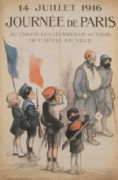 French WW1 poster - July 14, 1916  Paris Day.